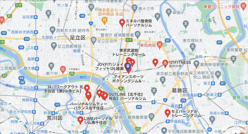 【綾瀬】綾瀬駅周辺のおすすめフィットネスジム・パーソナルトレーニングジムをご紹介!