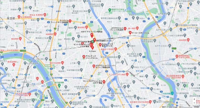 【亀有】亀有駅周辺のおすすめフィットネスジム・パーソナルトレーニングジムをご紹介!