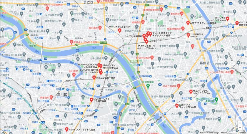 【小菅】小菅駅周辺のおすすめフィットネスジム・パーソナルトレーニングジムをご紹介!