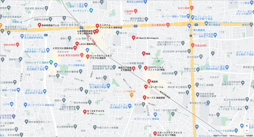 【梅島】梅島駅周辺のおすすめフィットネスジム・パーソナルトレーニングジムをご紹介!