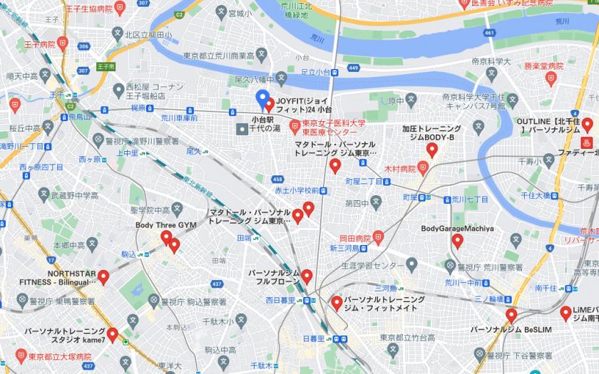 【小台】小台駅周辺のおすすめフィットネスジム・パーソナルトレーニングジムをご紹介!