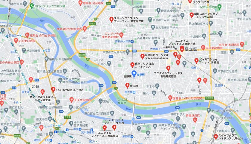 【高野】高野駅周辺のおすすめフィットネスジム・パーソナルトレーニングジムをご紹介!