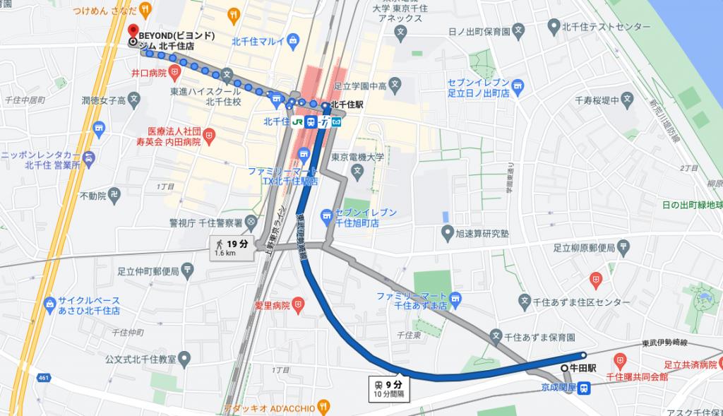 牛田駅から電車で9分のパーソナルトレーニングジム「BEYOND(ビヨンド)ジム北千住店」をご紹介!