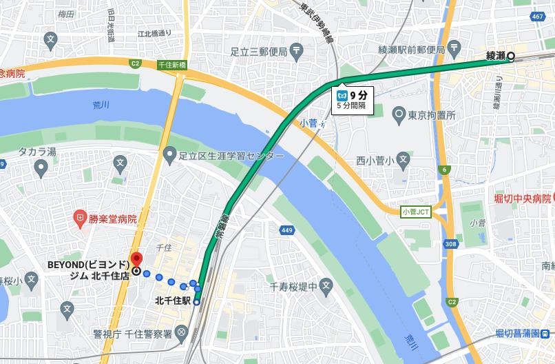綾瀬駅から電車で9分のパーソナルトレーニングジム「BEYOND(ビヨンド)ジム北千住店」をご紹介!