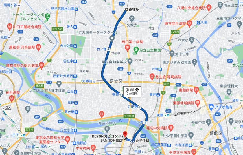 谷塚駅から電車で22分のパーソナルトレーニングジム「BEYOND(ビヨンド)ジム北千住店」をご紹介!