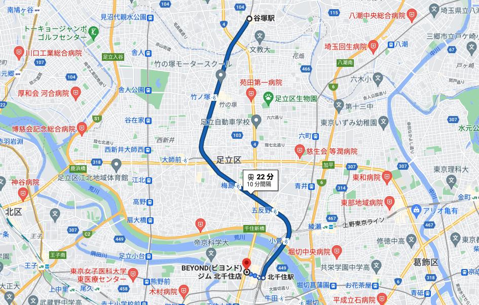 谷塚駅から通いやすいパーソナルトレーニングジム「BEYOND(ビヨンド)ジム北千住店」をご紹介!