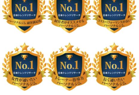 BEYONDがパーソナルジム部門6冠達成!