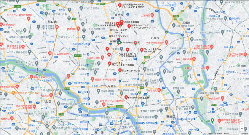 【谷塚】谷塚駅近くのおすすめフィットネスジム・パーソナルトレーニングジムをご紹介!