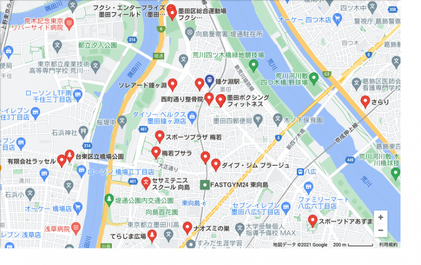 【鐘ヶ淵】鐘ヶ淵駅周辺のおすすめフィットネスジム・パーソナルトレーニングジムをご紹介!