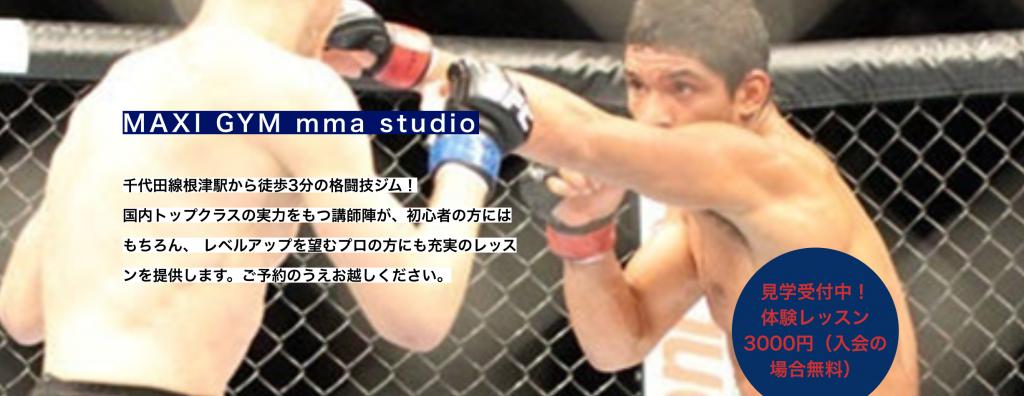 【根津】根津駅周辺のおすすめフィットネスジム・パーソナルトレーニングジムをご紹介!_MAXI GYM mma studio