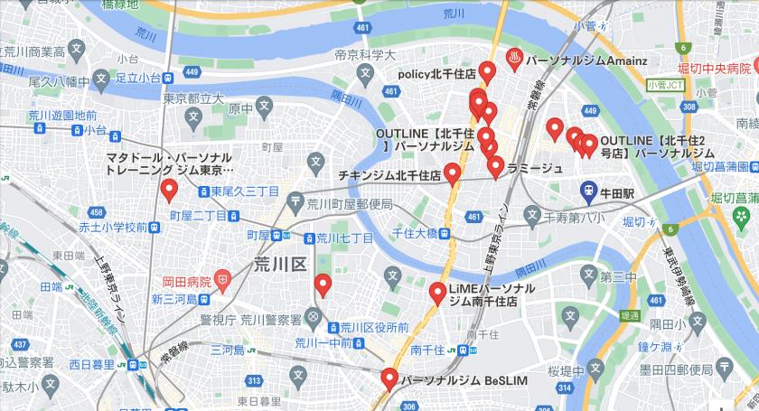 【牛田】牛田駅周辺のおすすめフィットネスジム・パーソナルトレーニングジムをご紹介!