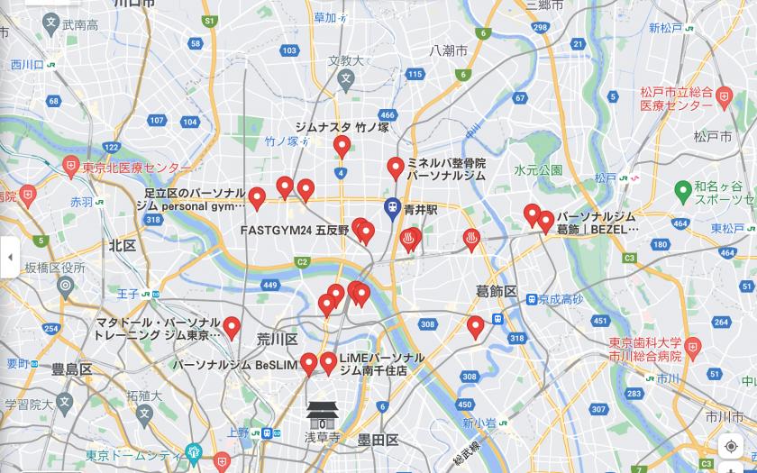 【青井】青井駅周辺のおすすめフィットネスジム・パーソナルトレーニングジムをご紹介!