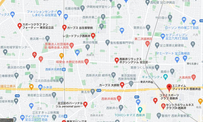 【西新井大師西】西新井大師西駅周辺のおすすめフィットネスジム・パーソナルトレーニングジムをご紹介!