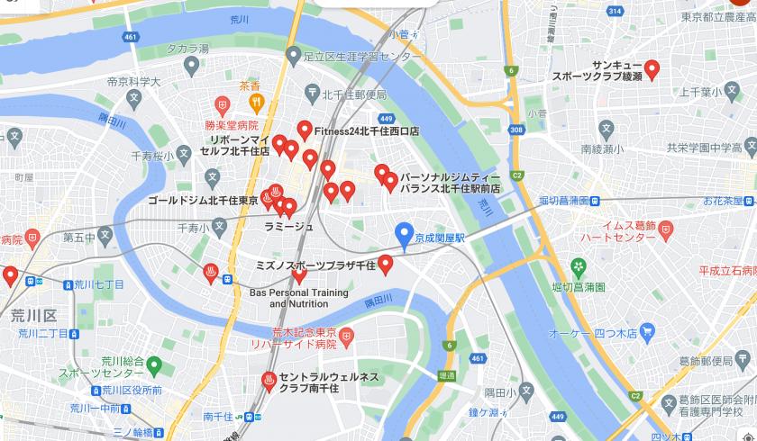 【京成関屋】京成関屋駅周辺のおすすめフィットネスジム・パーソナルトレーニングジムをご紹介!