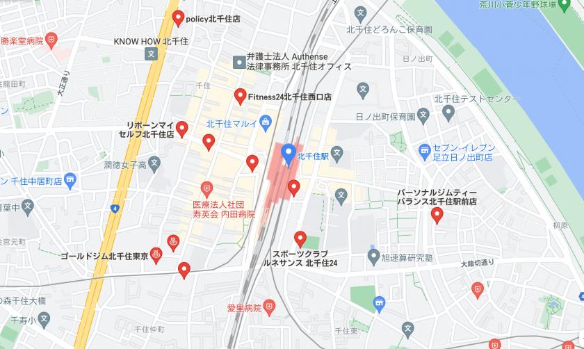【北千住】北千住駅周辺のおすすめフィットネスジム・パーソナルトレーニングジムをご紹介!