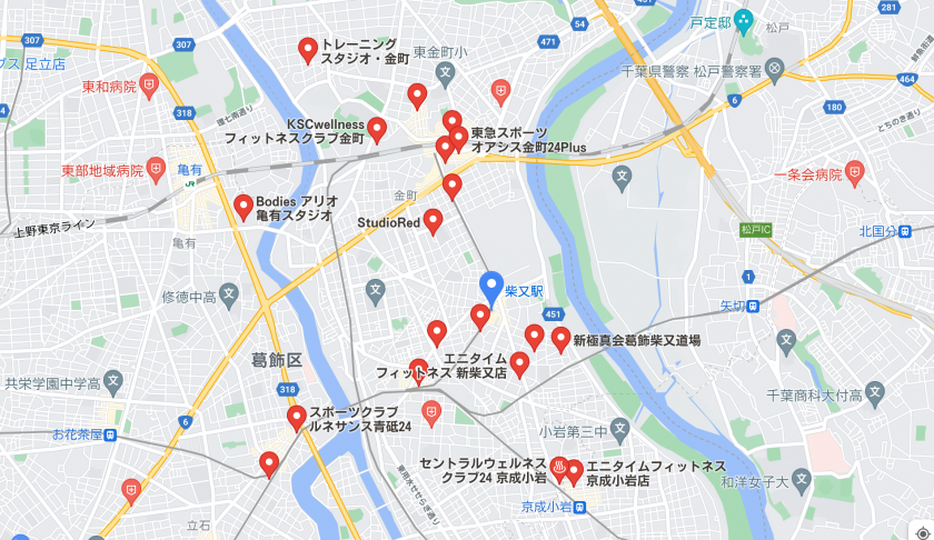 【柴又】柴又駅周辺のおすすめフィットネスジム・パーソナルトレーニングジムをご紹介!