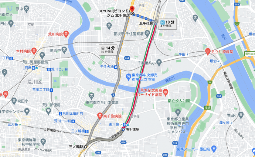 三ノ輪駅から電車で13分のパーソナルトレーニングジム「BEYOND(ビヨンド)ジム北千住店」をご紹介!