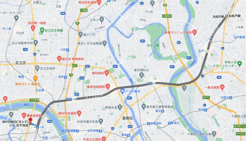 北松戸駅から電車で22分のパーソナルトレーニングジム「BEYOND(ビヨンド)ジム北千住店」をご紹介!