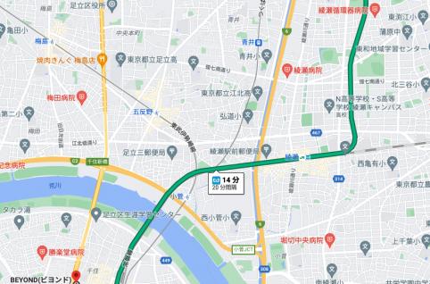 北綾瀬駅から電車で14分のパーソナルトレーニングジム「BEYOND(ビヨンド)ジム北千住店」をご紹介!