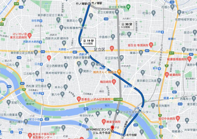 竹の塚駅から電車で19分のパーソナルトレーニングジム「BEYOND(ビヨンド)ジム北千住店」をご紹介!