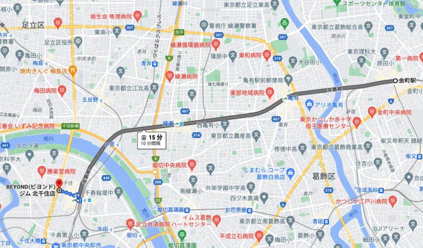 金町駅から電車で15分のパーソナルトレーニングジム「BEYOND(ビヨンド)ジム北千住店」をご紹介!